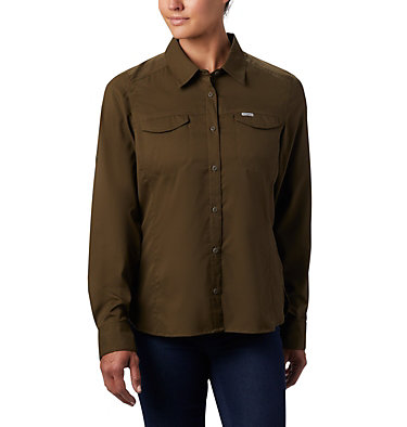 Women's Silver Ridge™ Lite Long Sleeve Silver Ridge™ Lite Long Sleeve Shirt | 472 | L, Olive Green, front