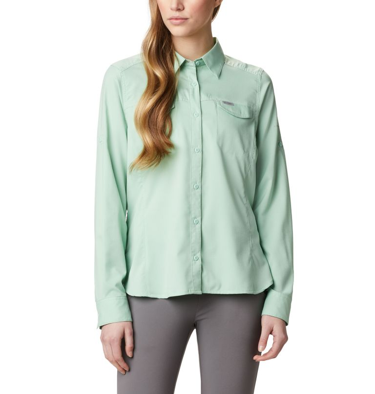 Silver Ridge™ Lite Long Sleeve Shirt | 384 | XL Women's Silver Ridge™ Lite Long Sleeve, New Mint, front
