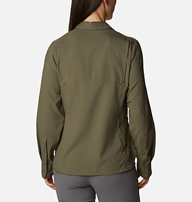 Women's Silver Ridge™ Lite Long Sleeve Silver Ridge™ Lite Long Sleeve Shirt | 549 | L, Stone Green, back