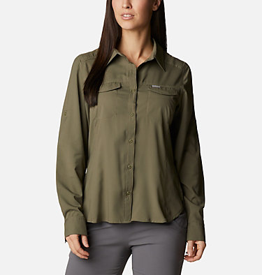 Women's Silver Ridge™ Lite Long Sleeve Silver Ridge™ Lite Long Sleeve Shirt | 549 | L, Stone Green, front