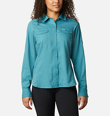 Women's Silver Ridge™ Lite Long Sleeve Silver Ridge™ Lite Long Sleeve Shirt | 549 | L, Canyon Blue, front