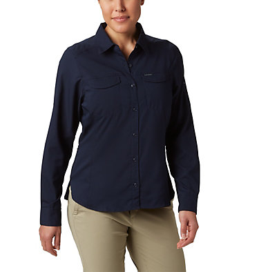 Women's Silver Ridge™ Lite Long Sleeve Silver Ridge™ Lite Long Sleeve Shirt | 472 | L, Dark Nocturnal, front