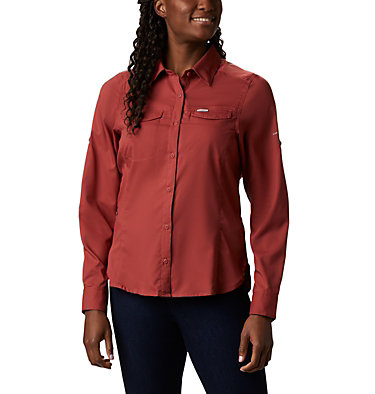 Women's Silver Ridge™ Lite Long Sleeve Silver Ridge™ Lite Long Sleeve Shirt | 549 | L, Dusty Crimson, front