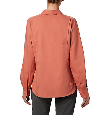 Women's Silver Ridge™ Lite Long Sleeve Silver Ridge™ Lite Long Sleeve Shirt | 472 | L, Dark Coral, back