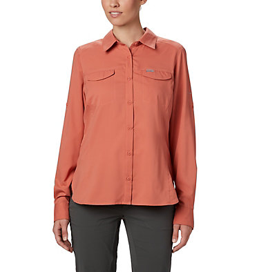 Women's Silver Ridge™ Lite Long Sleeve Silver Ridge™ Lite Long Sleeve Shirt | 472 | L, Dark Coral, front