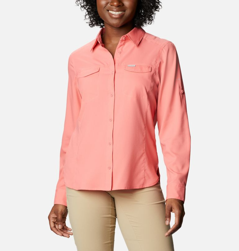 Silver Ridge™ Lite Long Sleeve Shirt | 699 | M Women's Silver Ridge™ Lite Long Sleeve, Salmon, front