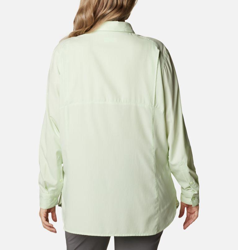 Silver Ridge™ Lite Long Sleeve Shirt | 313 | 2X Women's Silver Ridge™ Lite Long Sleeve Shirt - Plus Size, Light Lime, back