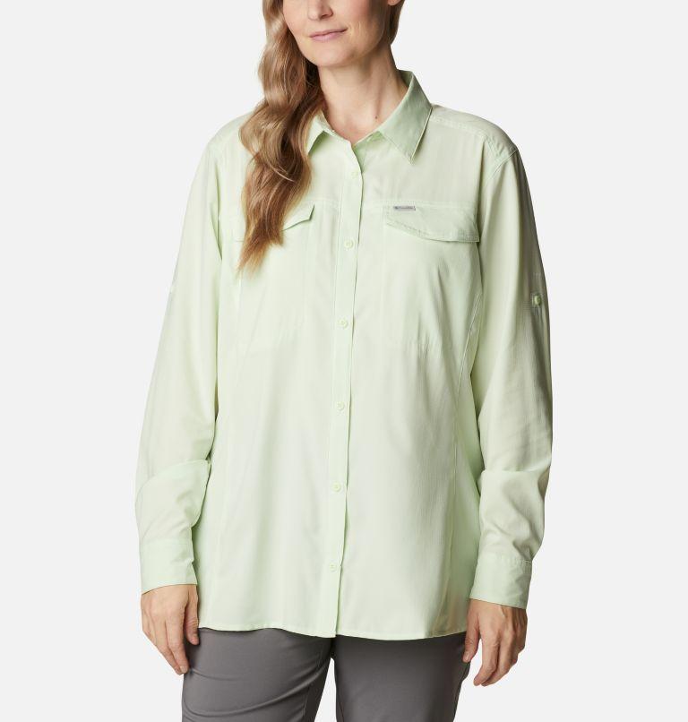 Silver Ridge™ Lite Long Sleeve Shirt | 313 | 2X Women's Silver Ridge™ Lite Long Sleeve Shirt - Plus Size, Light Lime, front