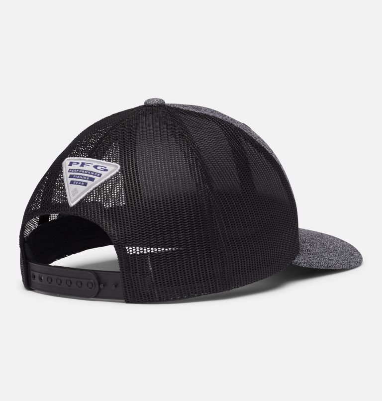 PFG Mesh Snap Back™ Ball Cap | 030 | O/S PFG Mesh Snap Back™ Ball Cap, Grill Heather, Black, Permit, back