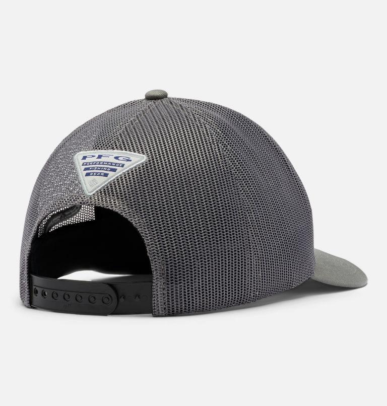 PFG Logo™ Mesh Snap Back - High | 031 | O/S PFG Mesh Snap Back™ Ball Cap, Titanium, Black, Hook, back