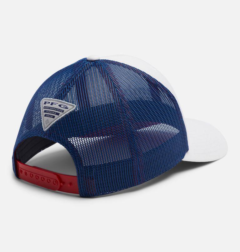 PFG Mesh Snap Back™ Ball Cap | 106 | O/S PFG Mesh Snap Back™ Ball Cap, White, Carbon, Red Spark, Striper, back