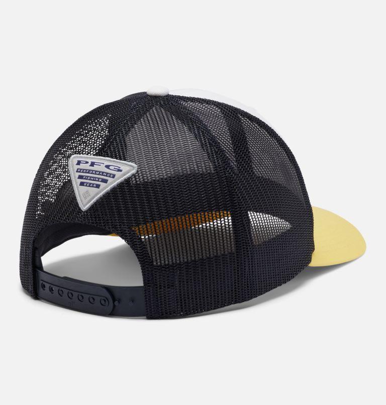 PFG Mesh Snap Back™ Ball Cap   107   O/S PFG Mesh Snap Back™ Ball Cap, White, Collegiate Navy, Sun Glow, Marlin, back