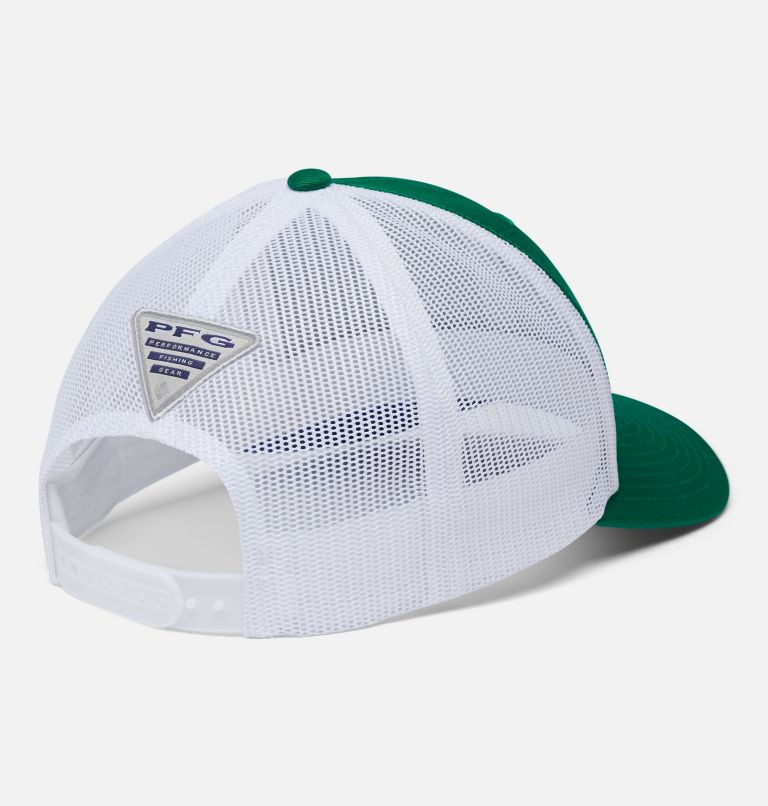 PFG Mesh Snap Back™ Ball Cap | 374 | O/S PFG Mesh Snap Back™ Ball Cap, Emerald Green, Vivid Blue, Marlin, back