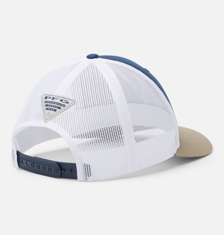 PFG Mesh Snap Back™ Ball Cap | 471 | O/S PFG Mesh Snap Back™ Ball Cap, Carbon, White, Tusk, Marlin, back