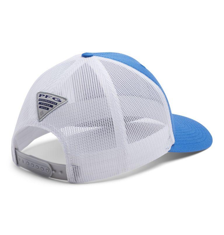 PFG Logo™ Mesh Snap Back - High | 492 | O/S PFG Mesh Snap Back™ Ball Cap, Vivid Blue, Marlin, back