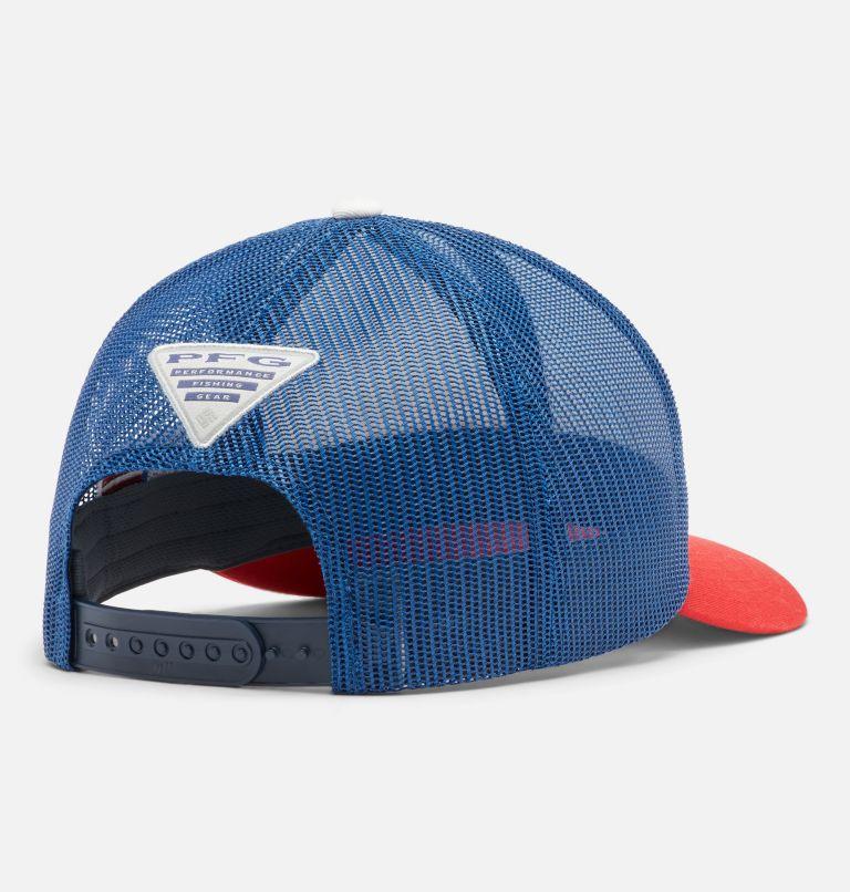 PFG Mesh Snap Back™ Ball Cap | 697 | O/S PFG Mesh Snap Back™ Ball Cap - USA, Red Spark, US Flag, back