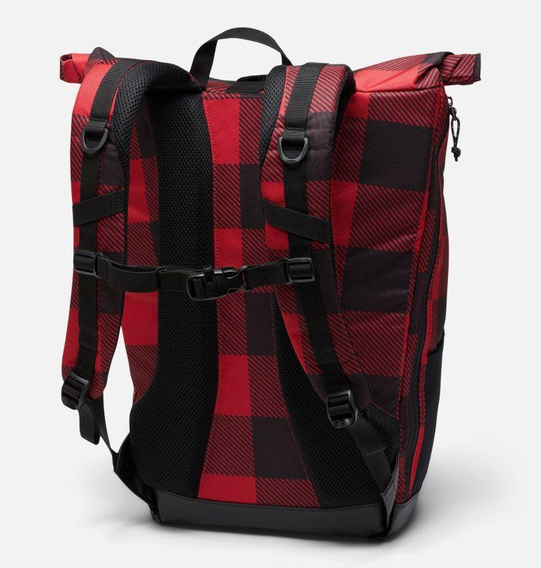 Convey™ 25L Rolltop Daypack | 613 | O/S Mochila con la parte superior enrollada unisex Convey de 25litros, Mountain Red Check Print, back