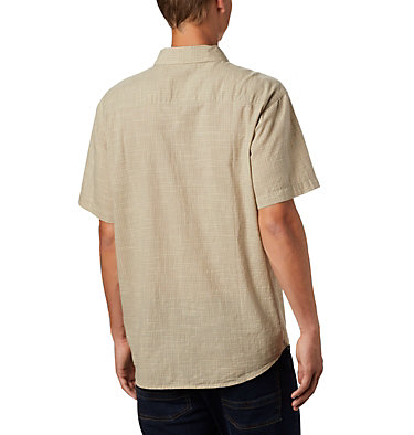 Men's Under Exposure™ Yarn-Dye Short Sleeve Shirt Under Exposure™ YD Short Sleeve Shirt | 100 | L, Tusk Plaid, back