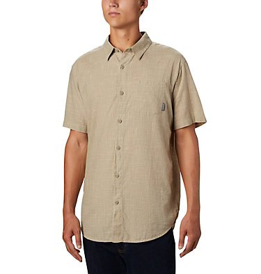 Men's Under Exposure™ Yarn-Dye Short Sleeve Shirt Under Exposure™ YD Short Sleeve Shirt | 100 | L, Tusk Plaid, front