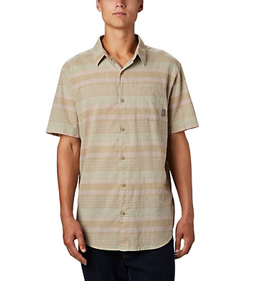 Men's Under Exposure™ Yarn-Dye Short Sleeve Shirt Under Exposure™ YD Short Sleeve Shirt | 100 | L, Pixel Stripe, front