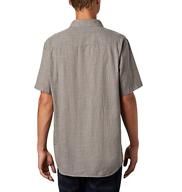 Men's Under Exposure™ Yarn Dye Short Sleeve Shirt – Big Under Exposure™ YD Short Sleeve Shirt | 100 | 1X, City Grey Plaid, back