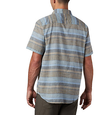 Men's Under Exposure™ Yarn Dye Short Sleeve Shirt – Big Under Exposure™ YD Short Sleeve Shirt | 100 | 1X, Sky Blue Stripe, back