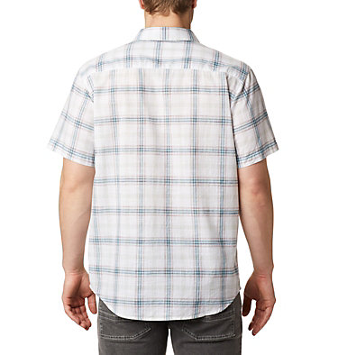 Men's Under Exposure™ Yarn Dye Short Sleeve Shirt – Tall Under Exposure™ YD Short Sleeve Shirt | 100 | 3XT, White Tartan Plaid, back