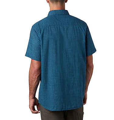 Men's Under Exposure™ Yarn Dye Short Sleeve Shirt – Tall Under Exposure™ YD Short Sleeve Shirt | 100 | 3XT, Collegiate Navy Plaid, back