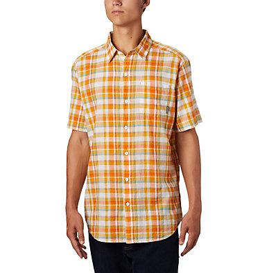 Under Exposure™ YD kurzärmliges Hemd für Herren Under Exposure™ YD Short Sleev | 440 | S, Bright Orange Multi Plaid, front