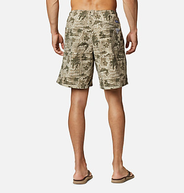 Men's PFG Super Backcast™ Water Shorts Super Backcast™ Water Short   359   S, Fossil Polynesian Print, back