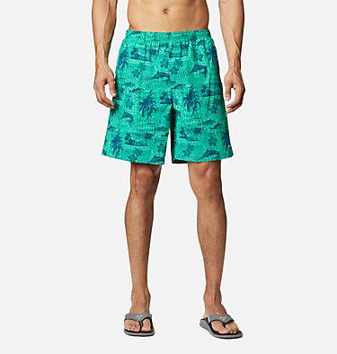 Men's PFG Super Backcast™ Water Shorts Super Backcast™ Water Short   359   S, Winter Green Polynesian Print, front