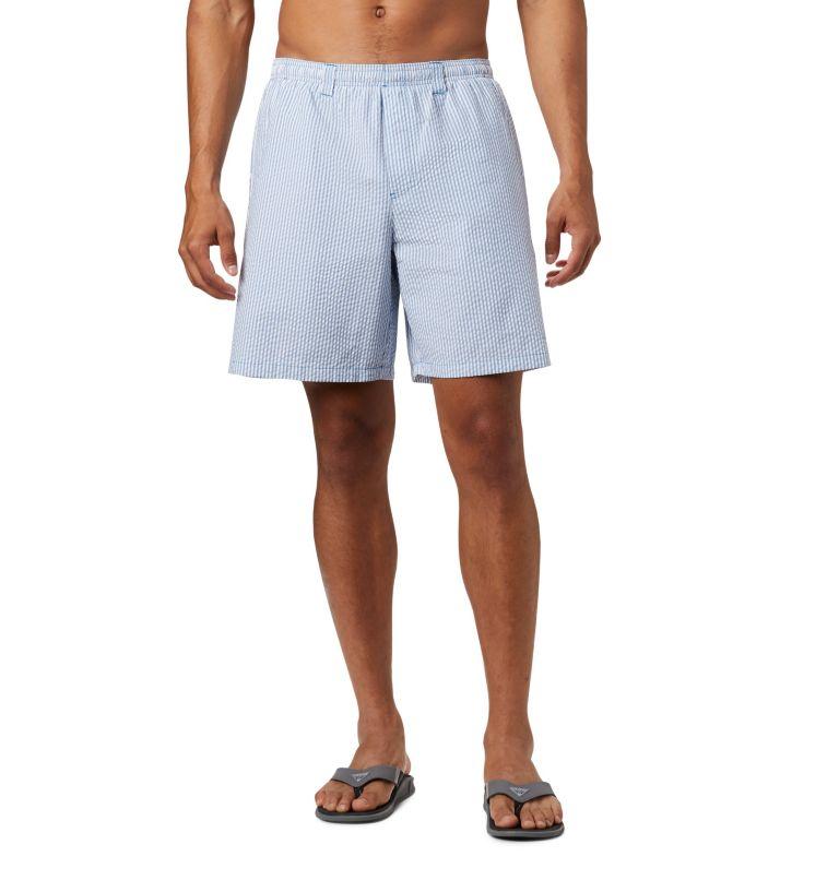 Super Backcast™ Water Short | 440 | XL Men's PFG Super Backcast™ Water Shorts, Dark Pool Seersucker, front