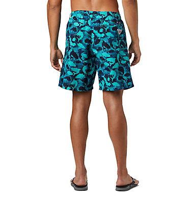 Men's PFG Super Backcast™ Water Shorts Super Backcast™ Water Short   359   S, Bright Aqua Inside Out Camo, back