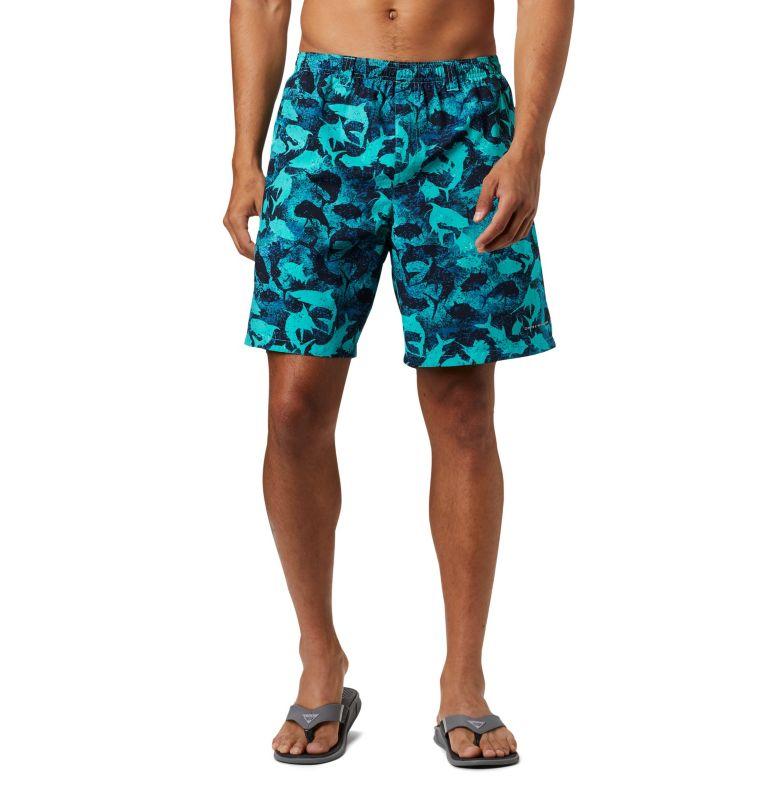Super Backcast™ Water Short | 454 | XL Men's PFG Super Backcast™ Water Shorts, Bright Aqua Inside Out Camo, front