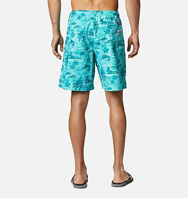 Men's PFG Super Backcast™ Water Shorts Super Backcast™ Water Short   359   S, Bright Aqua Polynesian Print, back