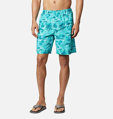 Men's PFG Super Backcast™ Water Shorts Super Backcast™ Water Short   359   S, Bright Aqua Polynesian Print, front