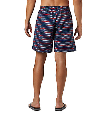 Men's PFG Super Backcast™ Water Shorts Super Backcast™ Water Short   359   S, Collegiate Navy Americana Print, back