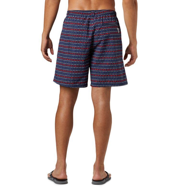 Super Backcast™ Water Short   471   XL Men's PFG Super Backcast™ Water Shorts, Collegiate Navy Americana Print, back