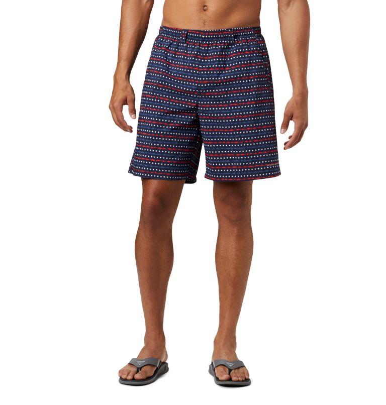 Super Backcast™ Water Short   471   XL Men's PFG Super Backcast™ Water Shorts, Collegiate Navy Americana Print, front