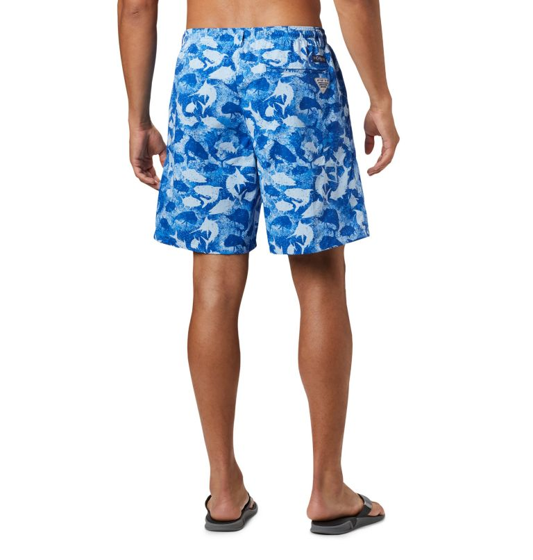 Super Backcast™ Water Short | 492 | XL Men's PFG Super Backcast™ Water Shorts, Vivid Blue Inside Out Camo, back