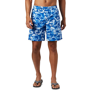 Men's PFG Super Backcast™ Water Shorts Super Backcast™ Water Short   359   S, Vivid Blue Inside Out Camo, front