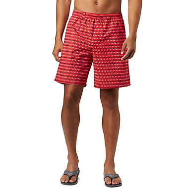 Men's PFG Super Backcast™ Water Shorts Super Backcast™ Water Short   359   S, Red Spark Americana Print, front