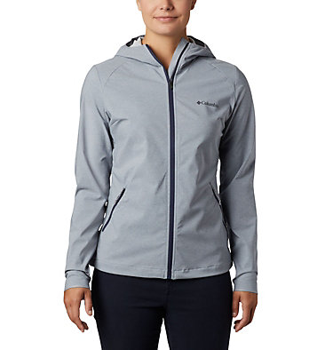 Women's Heather Canyon™ Softshell Jacket Heather Canyon™ Softshell Jack | 010 | L, Tradewinds Grey Heather, front