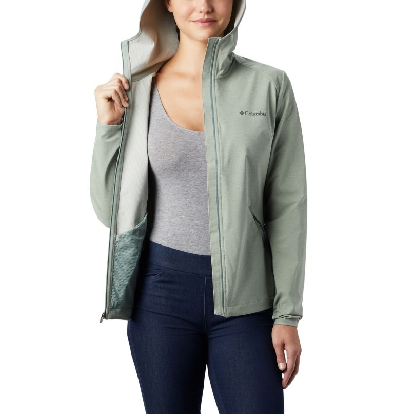 Heather Canyon™ Softshell Jacket | 305 | XS Veste Légère Heather Canyon™ Femme, Light Lichen Heather, a2