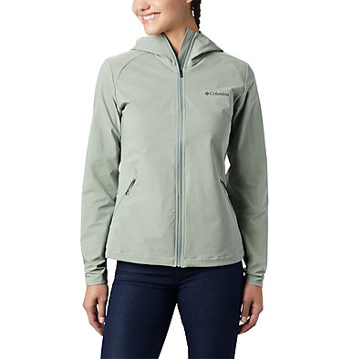 Women's Heather Canyon™ Softshell Jacket Heather Canyon™ Softshell Jack | 010 | L, Light Lichen Heather, front