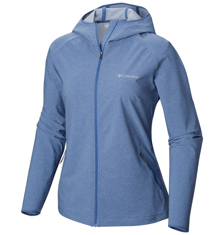 Heather Canyon™ Softshell Jack | 456 | L Giacca softshell Heather Canyon™ da donna, Blue Dusk Heather, front