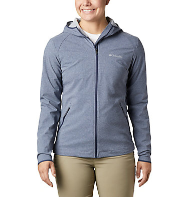 Women's Heather Canyon™ Softshell Jacket Heather Canyon™ Softshell Jack | 010 | L, Nocturnal Heather, front