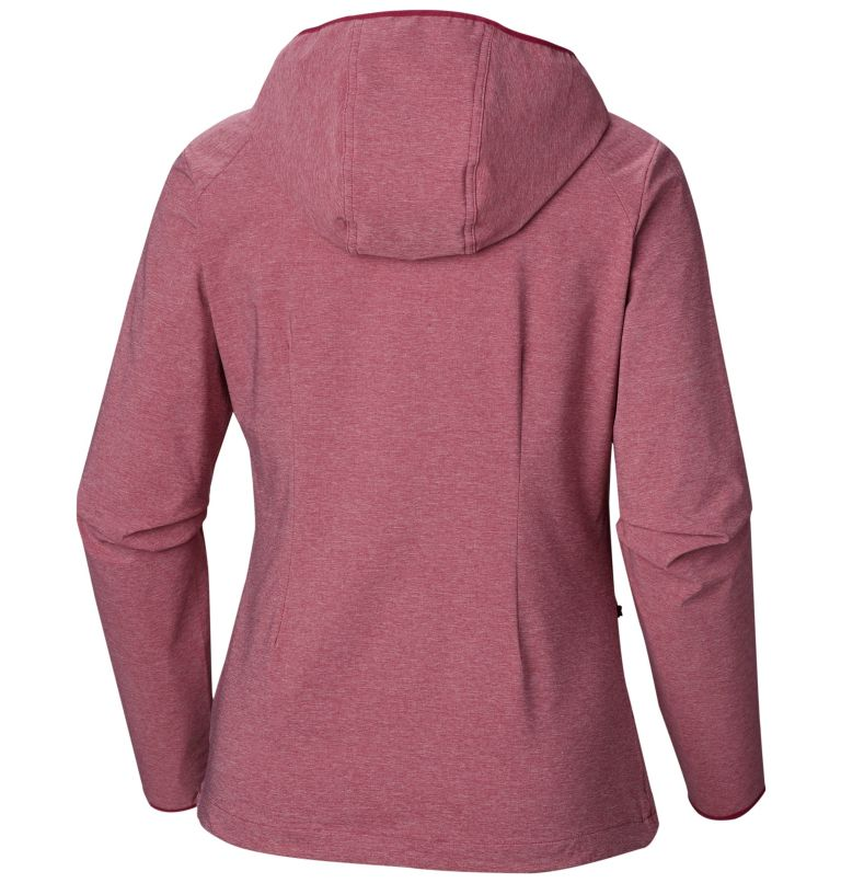 Heather Canyon™ Softshell Jack | 550 | XS Giacca softshell Heather Canyon™ da donna, Wine Berry Heather, back