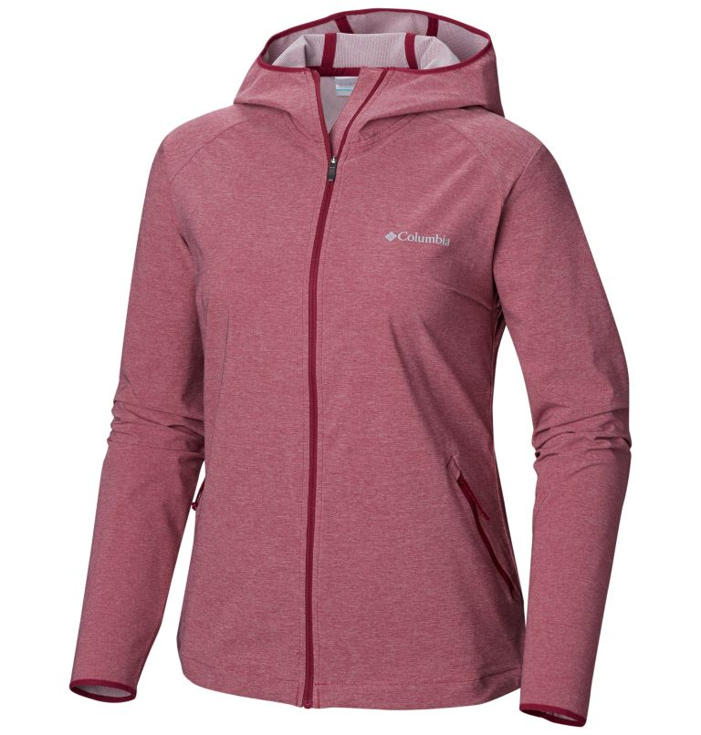 Heather Canyon™ Softshell Jack | 550 | L Giacca softshell Heather Canyon™ da donna, Wine Berry Heather, front