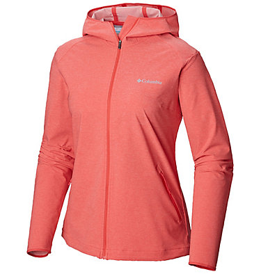 Women's Heather Canyon™ Softshell Jacket Heather Canyon™ Softshell Jack | 010 | L, Red Coral Heather, front